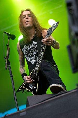 Children of Bodom - Singer and guitarist Alexi Laiho at Rockharz Open Air 2016