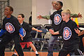 Children of U.S. Service members go through warm-up drills during the NBA Cares Hoops for Troops Basketball Clinic, at the Ernest N. Morial Convention Center in New Orleans Feb. 16, 2014 140214-A-OB789-001.jpg