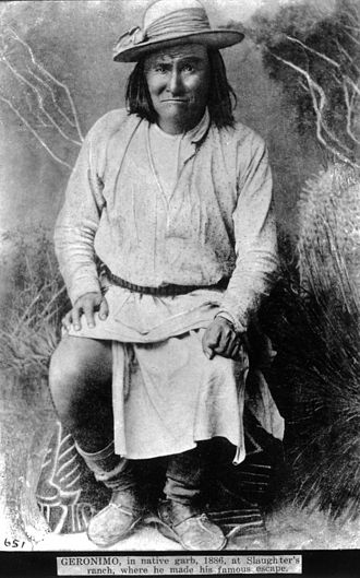 Chiricahua - Goyaałé (Geronimo), in native garb