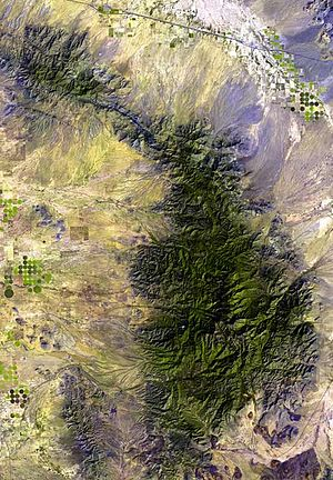 Sulphur Springs Valley - Sulphur Springs Valley and the Chiricahua Mountains.