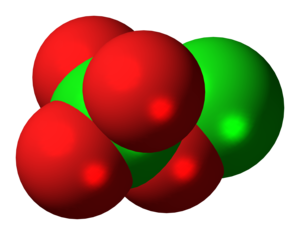 Chlorine perchlorate - Image: Chlorine perchlorate molecule spacefill
