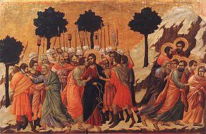 Maestà (Duccio) - Image: Christ Taken Prisoner