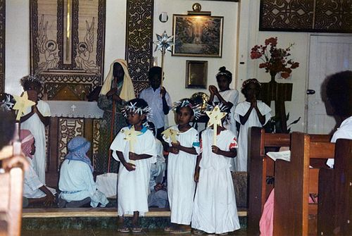 Christmas pageant in Port Moresby Anglican church mid-1990s. Christmas pageant in a Port Moresby Anglican church mid-90s.jpg
