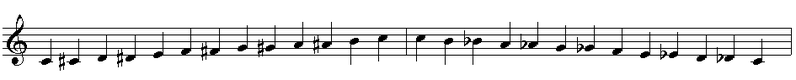 File:Chromatic scale full octave ascending and descending on C.PNG