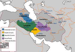 Division of Ilkhanate territory