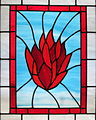 Church of the Ascension (Johnstown, Ohio) - stained glass, The Holy Spirit as fire.jpg