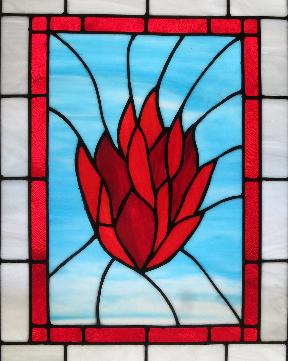 Church of the Ascension (Johnstown, Ohio) - stained glass, The Holy Spirit as fire