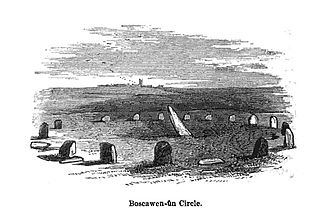 Boscawen-Un - Illustration by John Thomas Blight (1864)