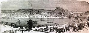 Cincinnati in the American Civil War - Cincinnati in 1862, a lithograph in Harper's Weekly