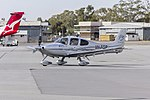 Cirrus SR22 G3 GTS Turbo (VH-FGP) taxiing at Wagga Wagga Airport.jpg