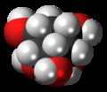 Cis-Inositol molecule spacefill.png