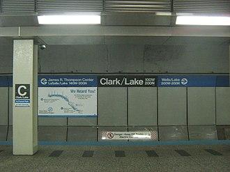 Milwaukee–Dearborn subway - Image: Clark Lake Subway platform; Side View