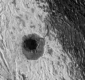 Cleopatra crater on Venus