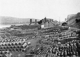 New Cumberland, West Virginia - Clifton Sewer Pipe yard, 1907
