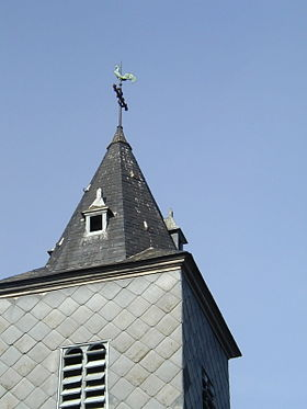 Le clocher de l'église.