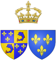 Coat of arms of Marie Thérèse of France, Madame Royale, as Dauphine of France.png