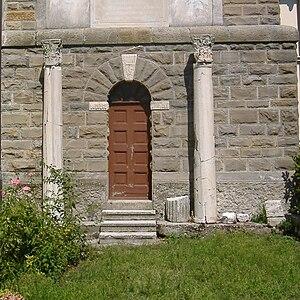 Barbana, Italy - Columns from the original 6th-century church