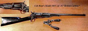 Colt's New Model Revolving rifle - Colt Model 1855 Carbine