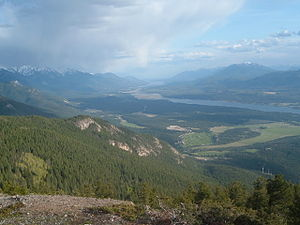Rocky Mountain Trench - The Columbia Valley is part of the Southern Rocky Mountain Trench
