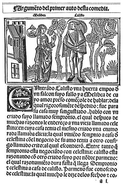 Archivo:Comedia de Calisto y Melibea, Burgos,Fadrique Alemán, 1499 fol 1r.jpg
