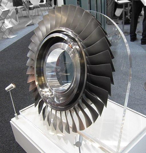 Compressor blisk on display (2)