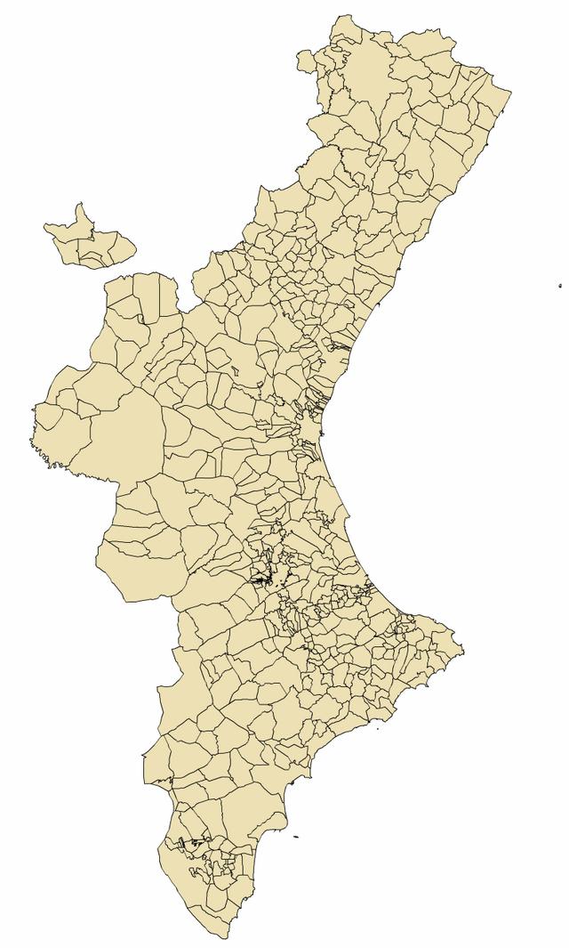 Mapa Municipios De Valencia.Anexo Municipios De La Comunidad Valenciana Wikiwand