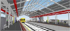 Elizabeth railway station - Image: Concept Image Elizabeth Interchange