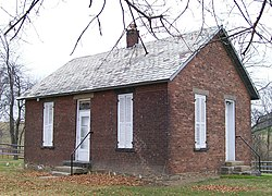 The Concord Hicksite Friends Meeting House, built 1815