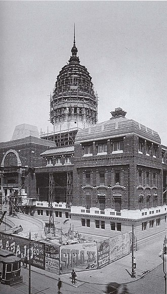 Palace of the Argentine National Congress - Image: Congreso Nacional en construcción (1905)
