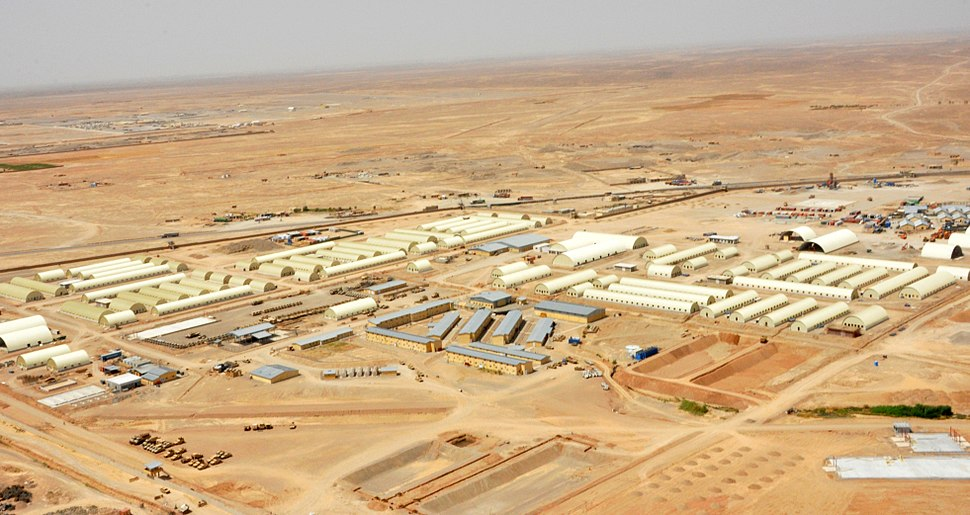 Construction of Afghan National Army base in southern Afghanistan