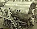 Convair 880 fuselage piece in factory.jpg