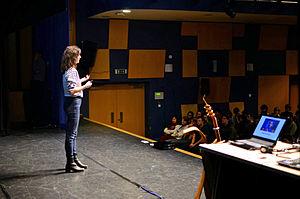 Coralie Colmez - Coralie Colmez addressing students