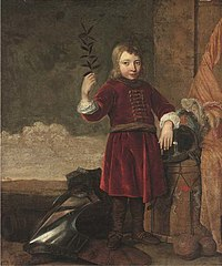 Allegory of Peace (portrait of a boy with military equipment)