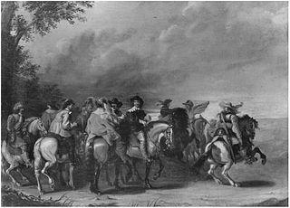 Group of men on horseback
