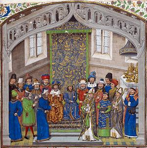 Jean de Wavrin - Coronation of Richard II of England, British Library