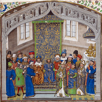 Jean de Wavrin - Coronation of Richard II of England, British Library