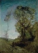 Corot - La villa italienne derrière les pins, 1855-1865.jpg