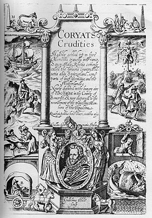 Thomas Coryat - Title page of Coryat's Crudities, 1611.