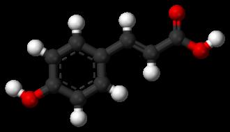 P-Coumaric acid - Image: Coumaric acid 3D balls