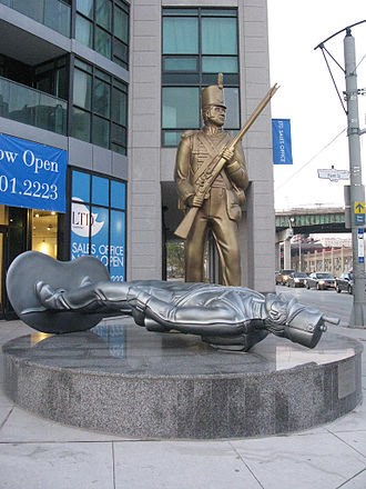 Douglas Coupland - Monument to the War of 1812, 2008. The monument is located at the intersection of Fleet and Bathurst Street in Toronto.