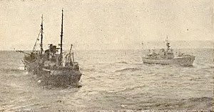"Cod Wars - ""Coventry City"" and ICGV ""Albert"" off the Westfjords"