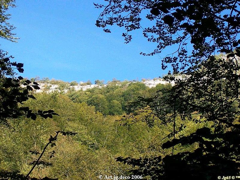 Vue depuis le chemin de bohocortia dans la forêt des arbailles