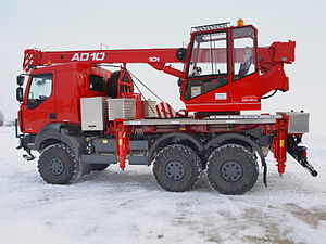 Tatra 810 - Image: Crane AD10 on TATRA 810