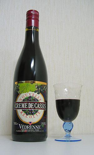 Crème de cassis - Crème de cassis bottled at 15% ABV.