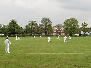 Scoring runs in cricket - Batsmen about to set off for a run.