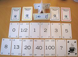 Cartas para Planning Poker en Scrum