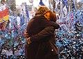 Cristina Fernández junto a Néstor Kirchner en la Plaza de Mayo - Junio de 2008.jpg