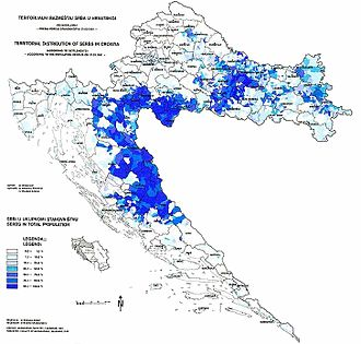 Operation Storm - Serb-populated areas in Croatia according to the 1981 census