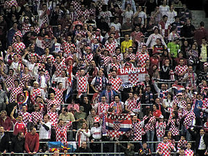 Sport in Croatia - Croatian handball fans in the 2009 World Championship