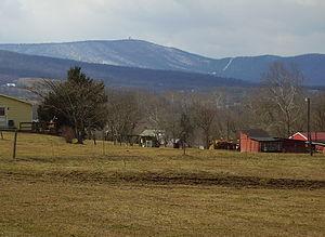 Cross Mountain (Pennsylvania) - Cross Mountain (note the tower on the summit)
